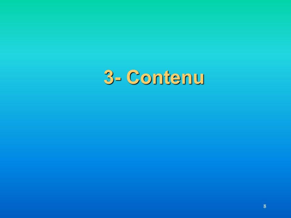 8 3- Contenu 3- Contenu