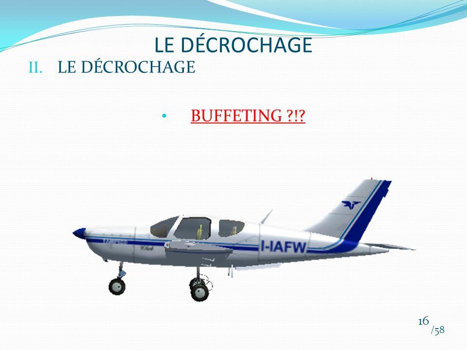 II. LE DÉCROCHAGE BUFFETING ?!? /58 16 LE DÉCROCHAGE
