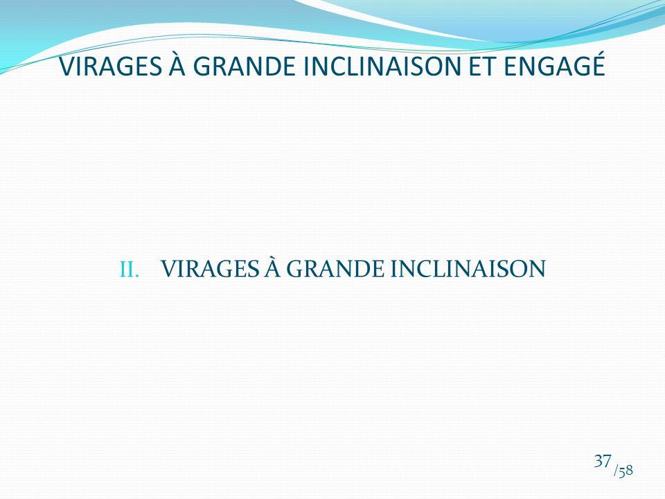 II. VIRAGES À GRANDE INCLINAISON /58 37 VIRAGES À GRANDE INCLINAISON ET ENGAGÉ