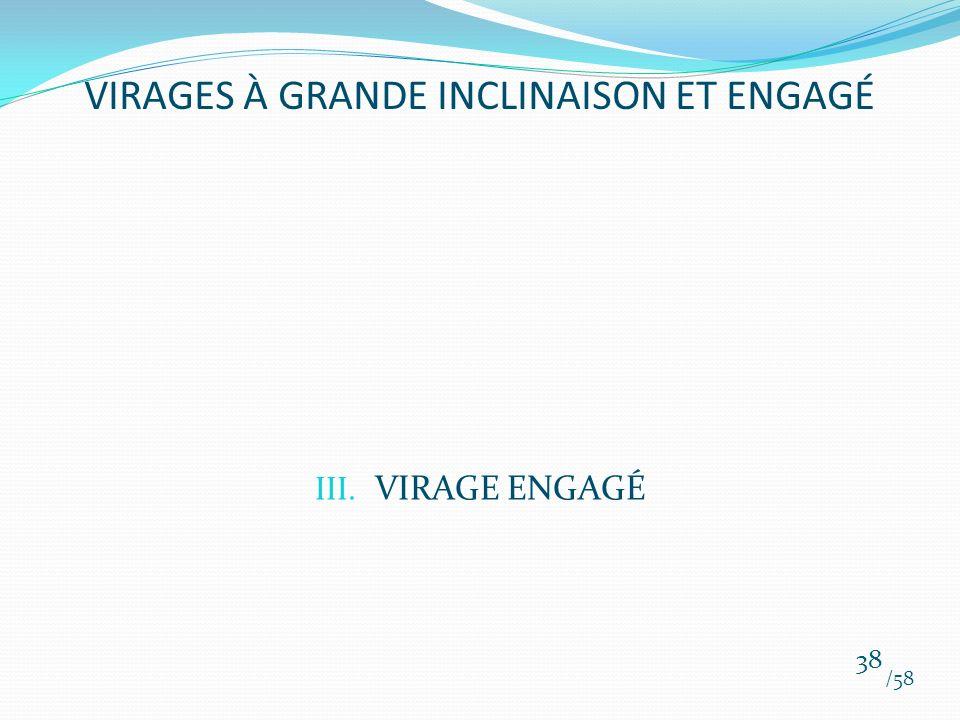 III. VIRAGE ENGAGÉ /58 38 VIRAGES À GRANDE INCLINAISON ET ENGAGÉ