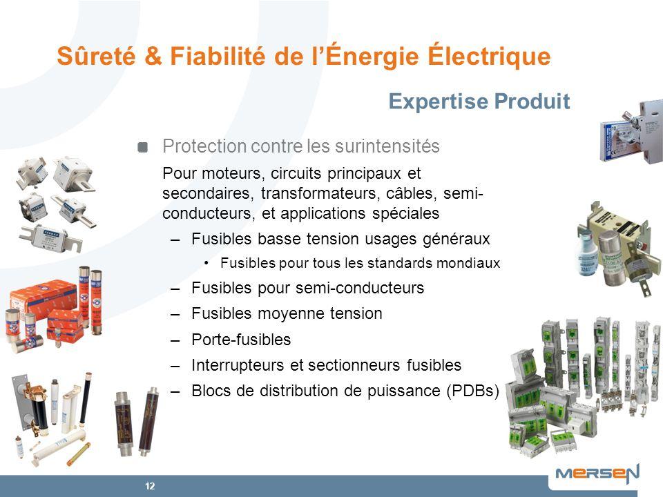 12 Protection contre les surintensités Pour moteurs, circuits principaux et secondaires, transformateurs, câbles, semi- conducteurs, et applications s
