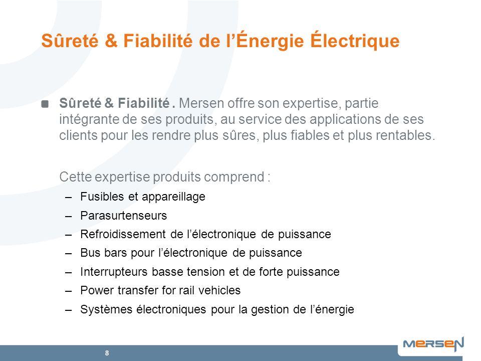 19 Produits répondant à tous les standards mondiaux Certification ISO 9001 Certification ISO 14001 Certification ISO 16000 –Premier site industriel certifié en France Expertise Produit Sûreté & Fiabilité de lÉnergie Électrique