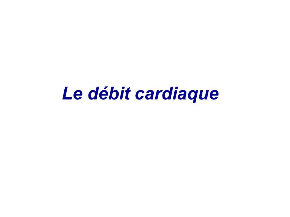 I- Définition Le débit cardiaque est le volume de sang expulsé par chaque ventricule par unité de temps.