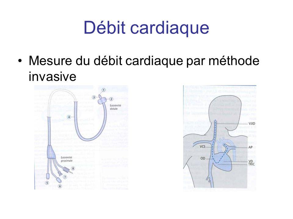 Méthode simple (dispense spirométrie) Produits utilisés : - Marqueurs colorés : vert indocyanine (cardiogreen) - sérum froid +++ : variation de T° (courbe de thermodilution) - Isotopes : radioéléments Exp : l albumine marquée à l iode.
