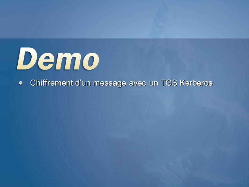 Chiffrement dun message avec un TGS Kerberos