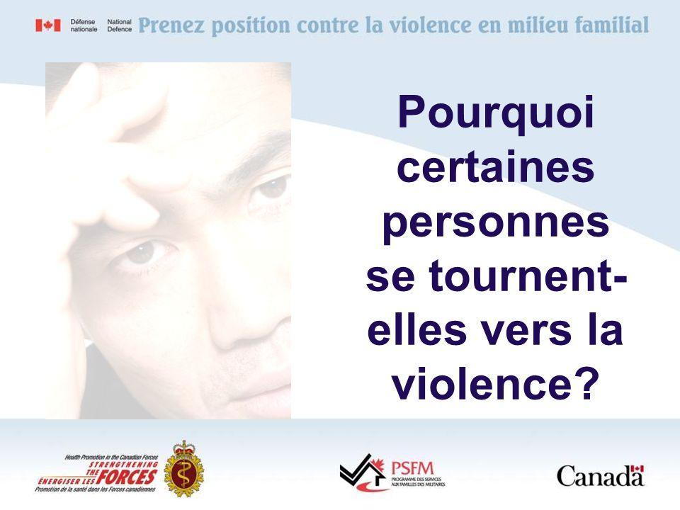 Pourquoi certaines personnes se tournent- elles vers la violence?