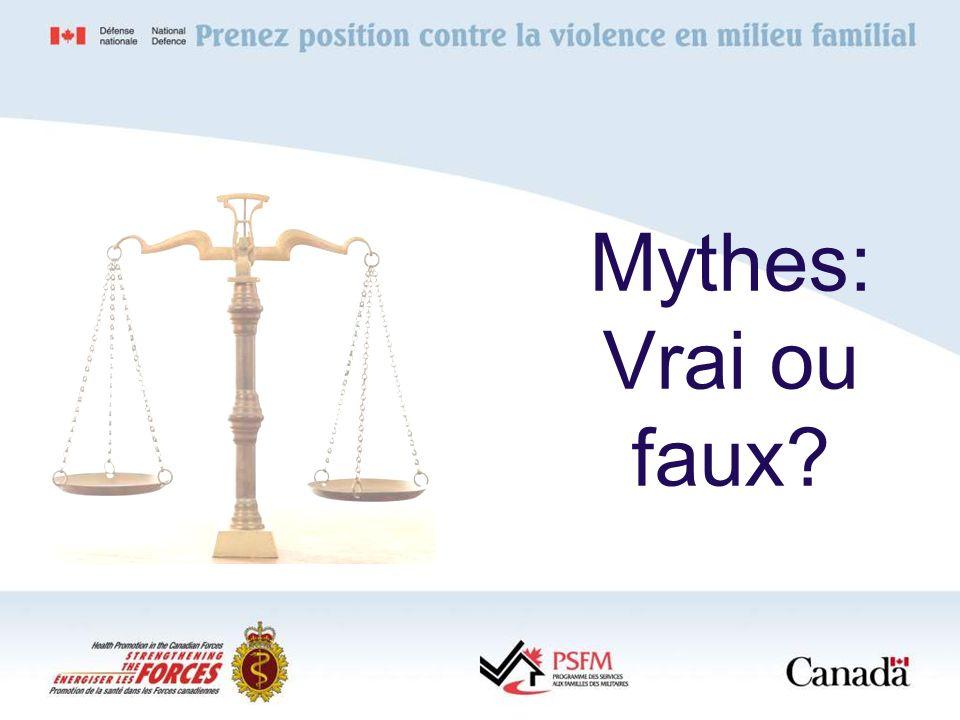 Mythes: Vrai ou faux?