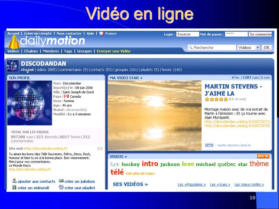 Vidéo en ligne 10