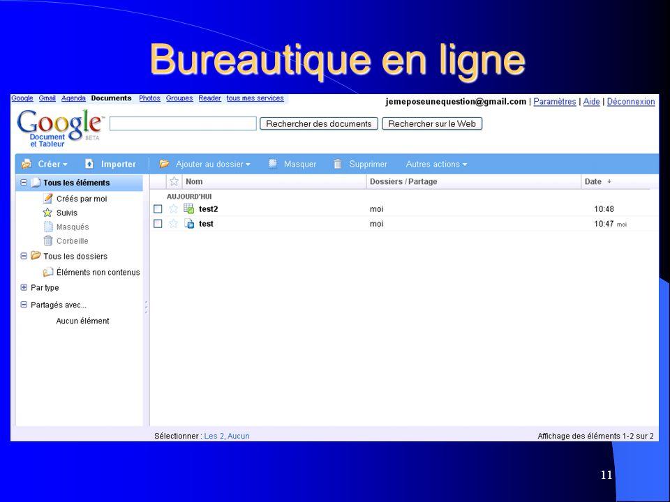 Bureautique en ligne 11