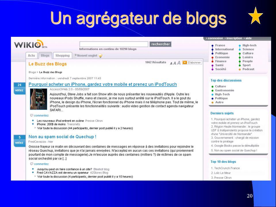 Un agrégateur de blogs 20