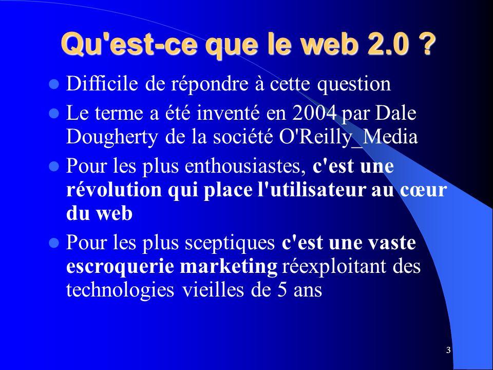 Qu est-ce que le web 2.0 .