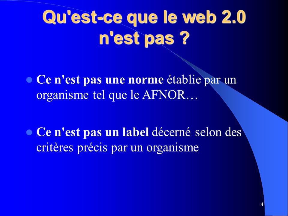 Qu est-ce que le web 2.0 n est pas .