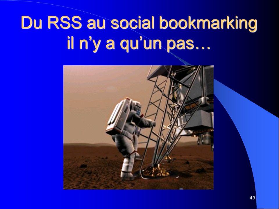 Du RSS au social bookmarking il ny a quun pas… 45