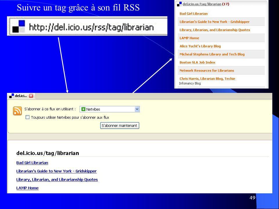 49 Suivre un tag grâce à son fil RSS