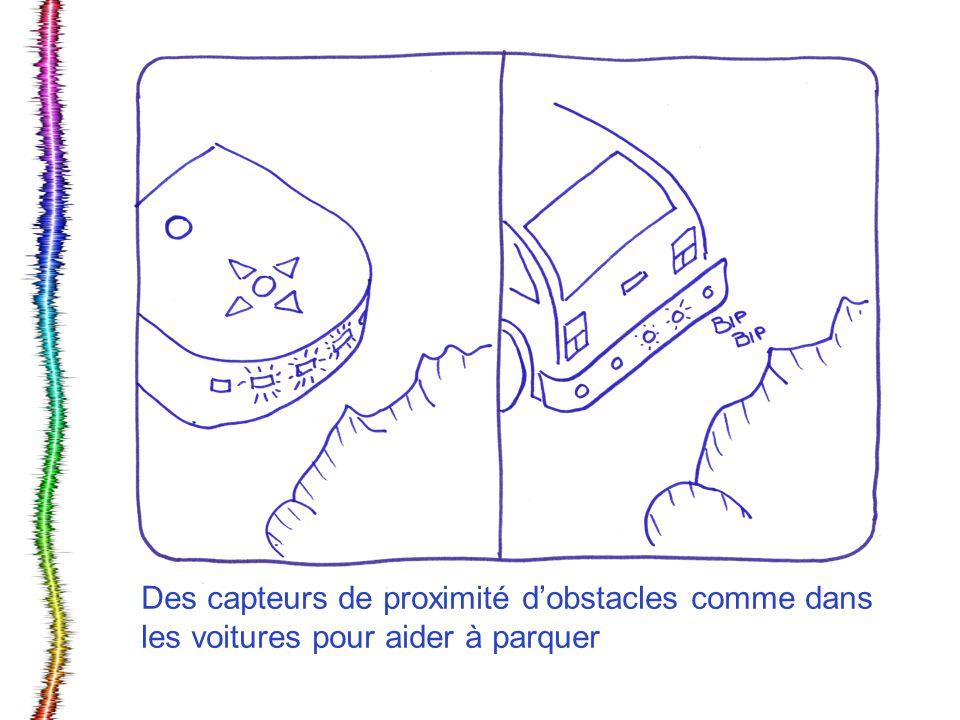 Des capteurs de proximité dobstacles comme dans les voitures pour aider à parquer