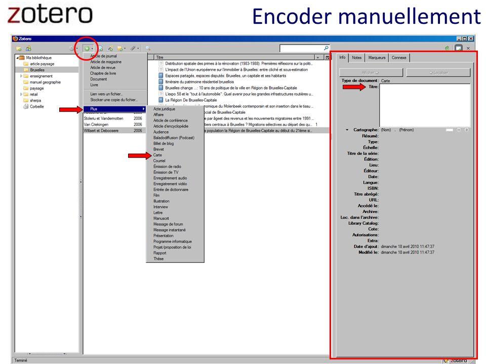 Encoder manuellement