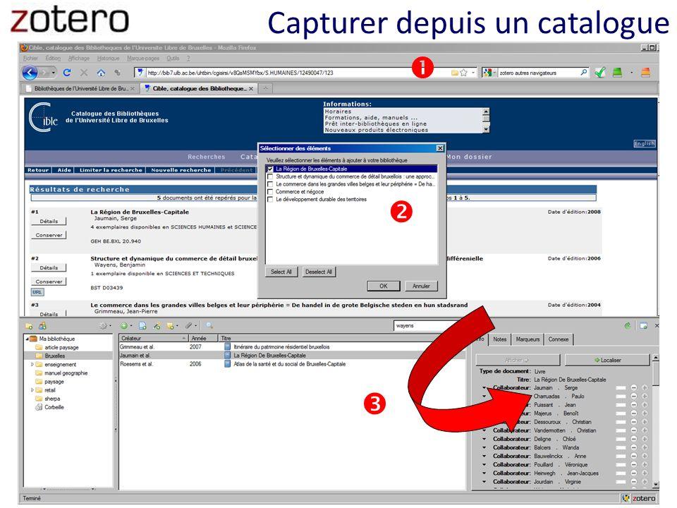 Exporter un bibliographie formatée sélectionner click gauche choisir le format de référence + export Becker, I., Godard, M.