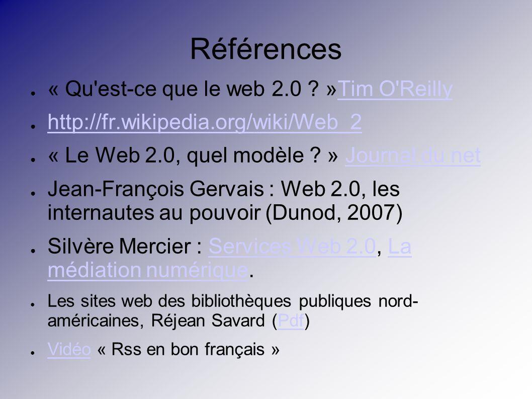 Références « Qu est-ce que le web 2.0 .