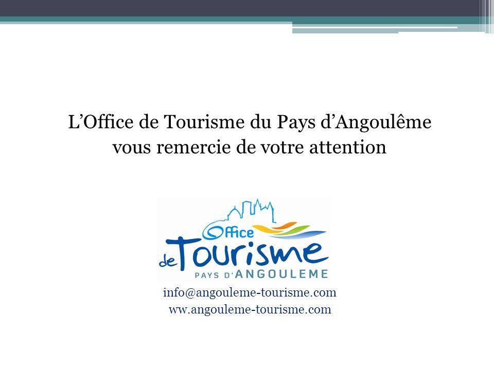 LOffice de Tourisme du Pays dAngoulême vous remercie de votre attention info@angouleme-tourisme.com ww.angouleme-tourisme.com