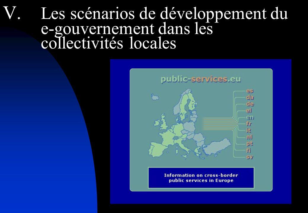 V. Les scénarios de développement du e-gouvernement dans les collectivités locales