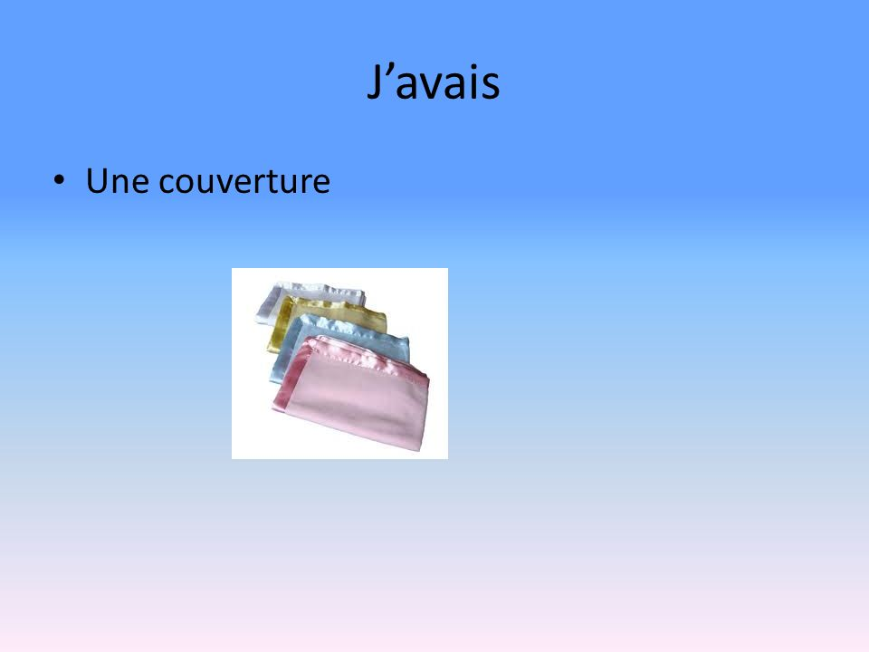 Javais Une couverture