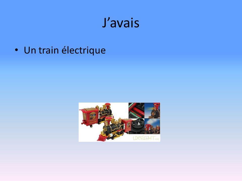 Javais Un train électrique