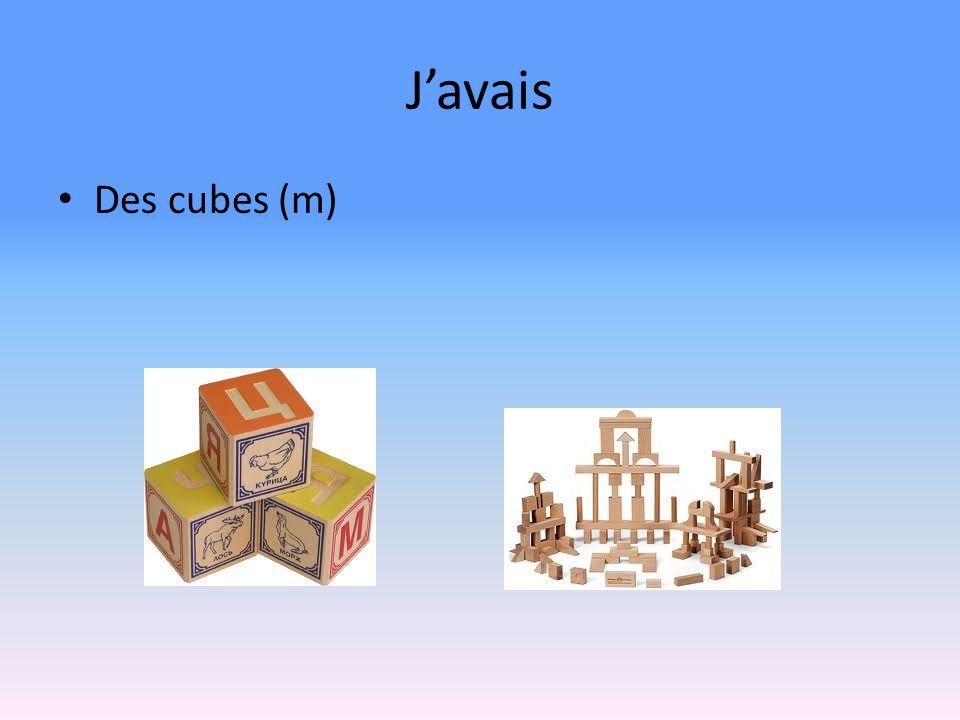 Javais Des cubes (m)