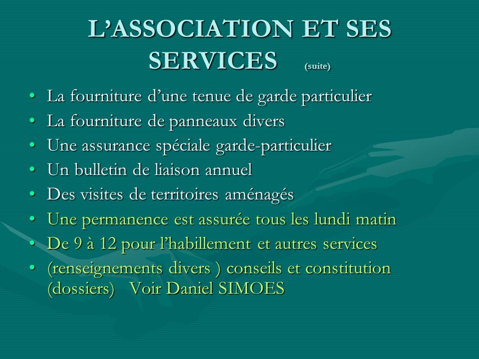 La défense du garde particulierLa défense du garde particulier La valorisation du garde particulierLa valorisation du garde particulier Des séances de