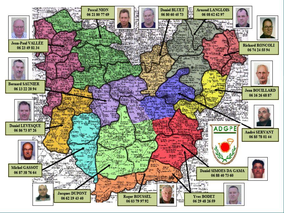 A. D. G. P. E Lassociation est repartie dans le département en 5 grands secteurs représentant les compagnies de Gendarmerie LOUVIERS = Responsables= D