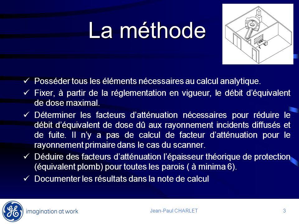3 3Jean-Paul CHARLET La méthode Posséder tous les éléments nécessaires au calcul analytique. Fixer, à partir de la réglementation en vigueur, le débit