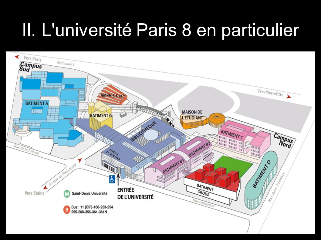 II. L'université Paris 8 en particulier