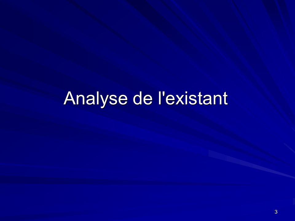 3 Analyse de l'existant