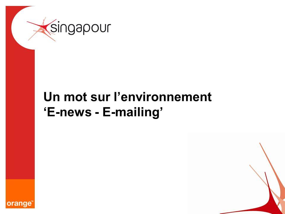Un mot sur lenvironnement E-news - E-mailing