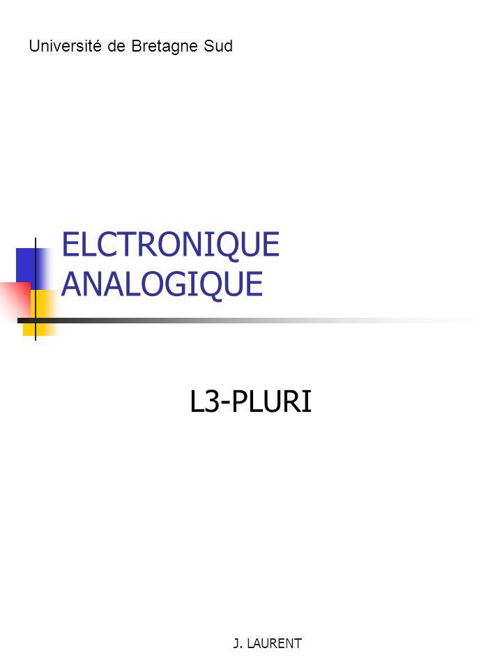 J. LAURENT I.6. Applications à l amplification