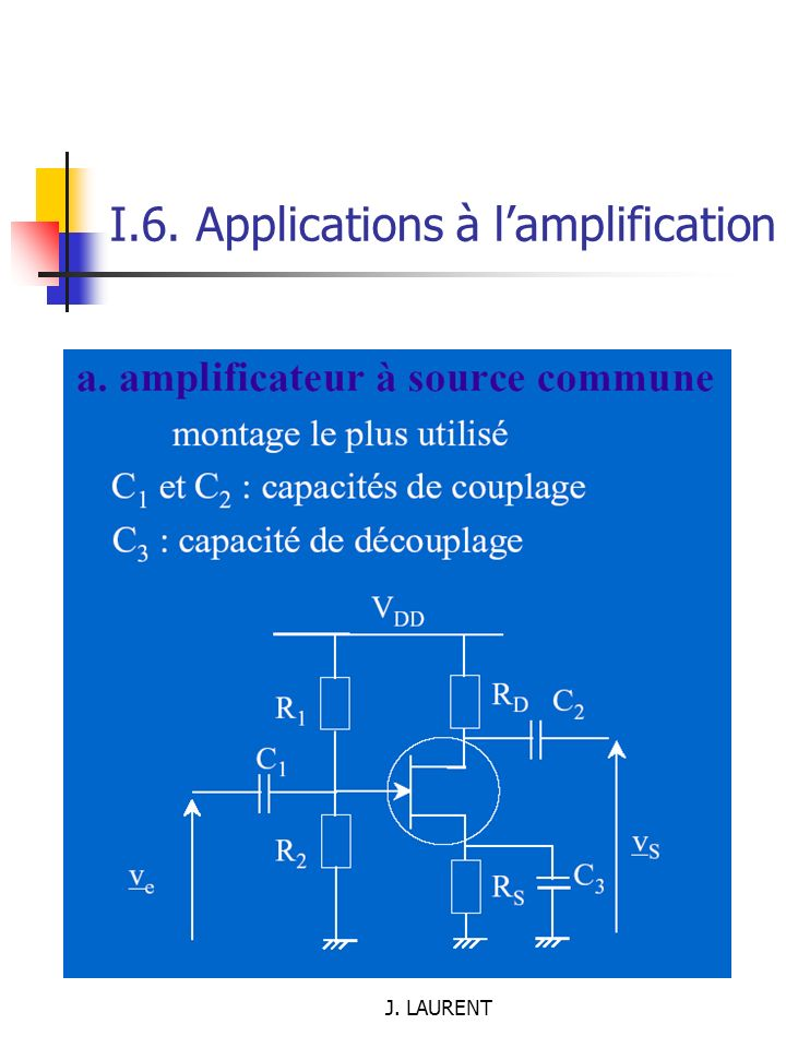 J. LAURENT I.6. Applications à lamplification