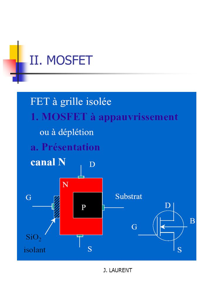 J. LAURENT II. MOSFET