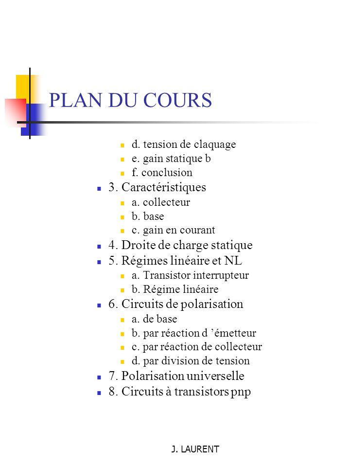 J. LAURENT I.3. Jonction PN - Diode