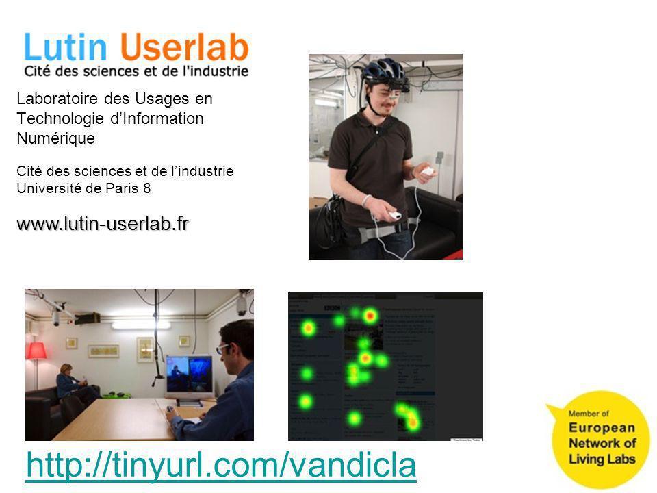 Cité des sciences et de lindustrie Université de Paris 8 Laboratoire des Usages en Technologie dInformation Numérique www.lutin-userlab.fr http://tiny
