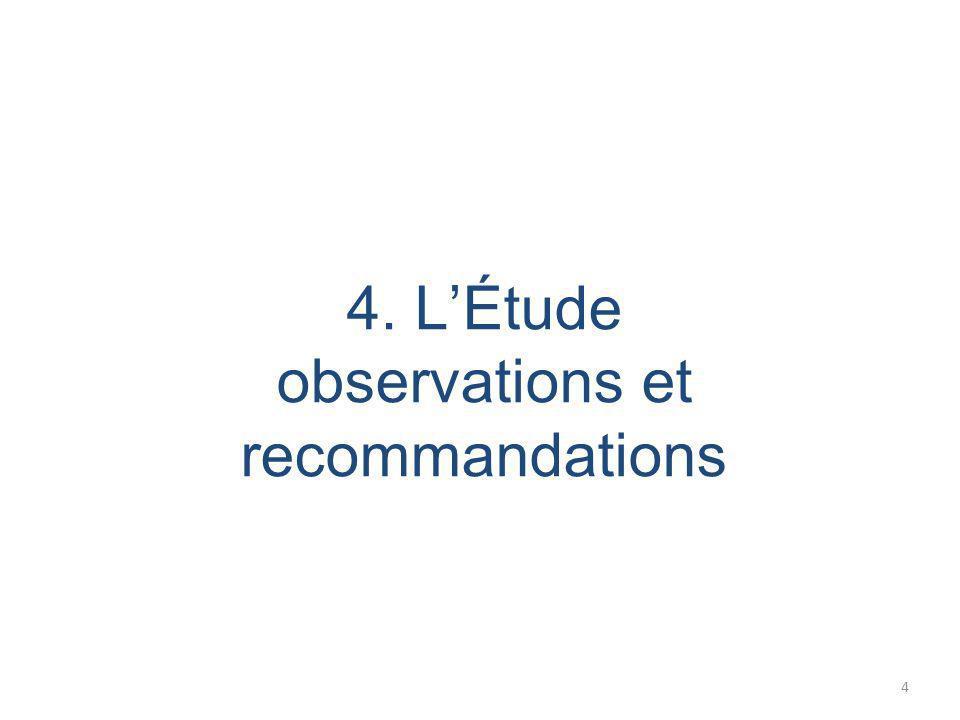 4. LÉtude observations et recommandations 4