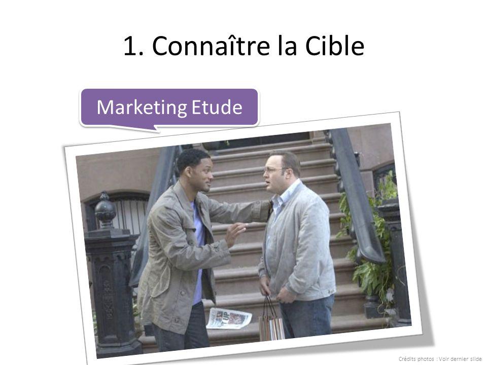 1. Connaître la Cible Marketing Etude Crédits photos : Voir dernier slide