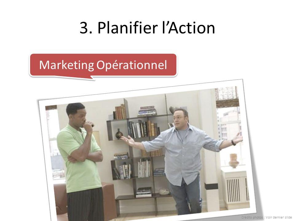 3. Planifier lAction Marketing Opérationnel Crédits photos : Voir dernier slide
