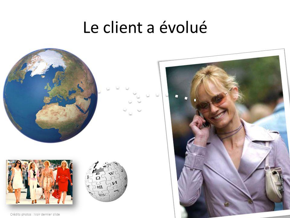 Le client a évolué Crédits photos : Voir dernier slide
