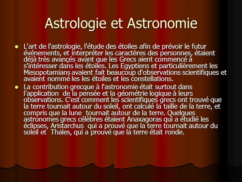 Astrologie et Astronomie L'art de l'astrologie, l'étude des étoiles afin de prévoir le futur événements, et interpréter les caractères des personnes,