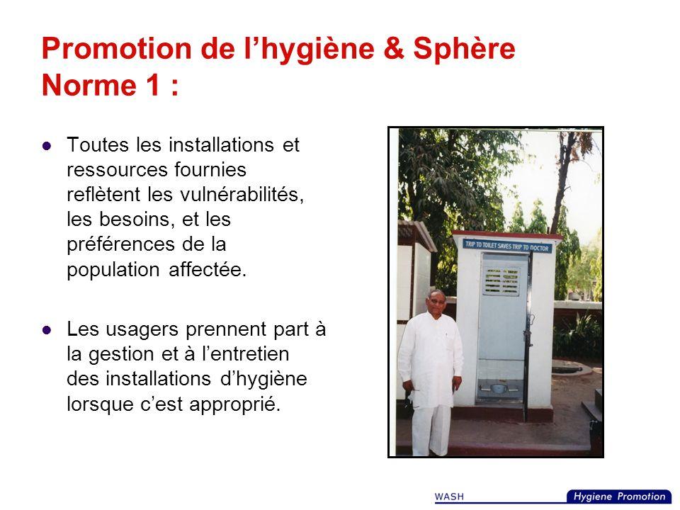 Pourquoi avons-nous besoin de la Promotion de lhygiène ? 3. Pour surveiller lacceptabilité des infrastructures et limpact sur la santé