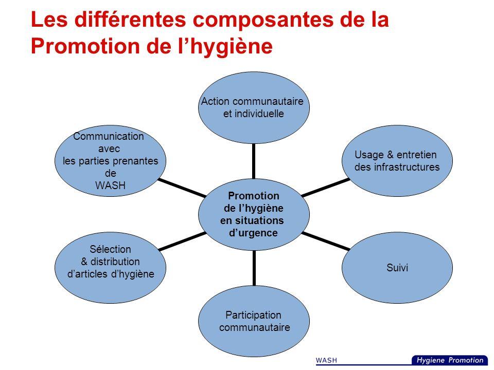 Exercice 2 (20 minutes en tout) Par groupes de 3, demandez de trouver des exemples de certaines activités de Promotion de lhygiène (10 minutes) Discus