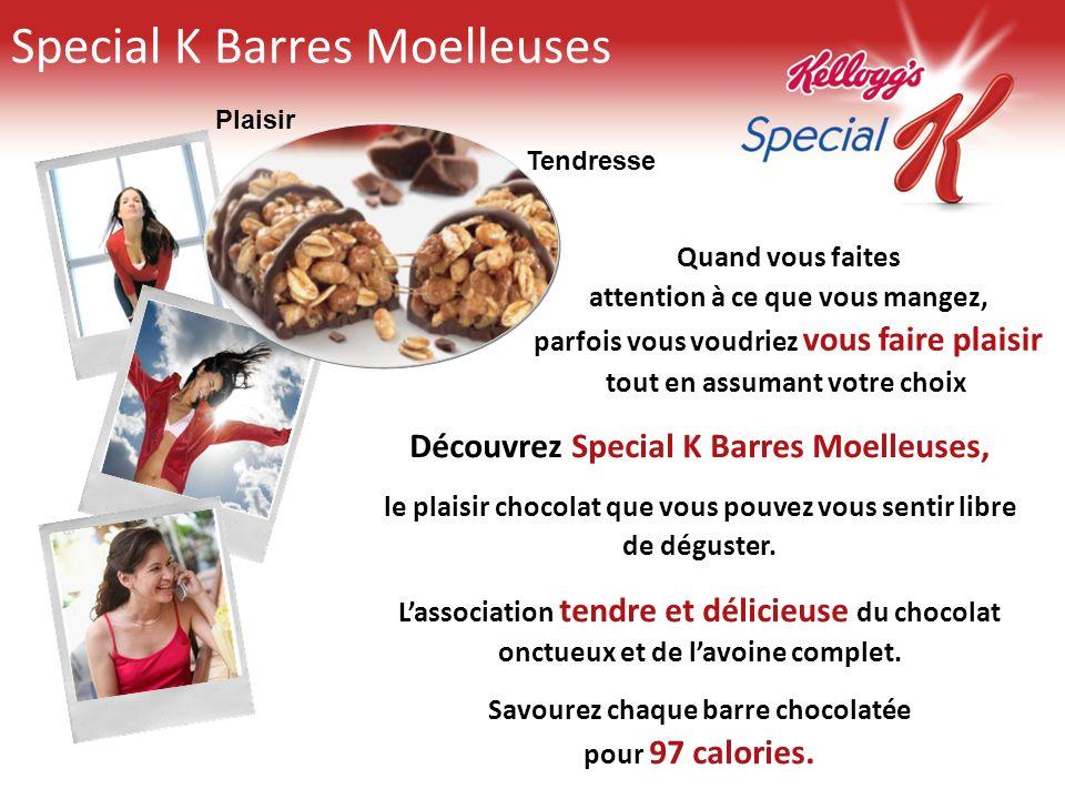 Special K Barres Moelleuses Découvrez Special K Barres Moelleuses, le plaisir chocolat que vous pouvez vous sentir libre de déguster. Lassociation ten