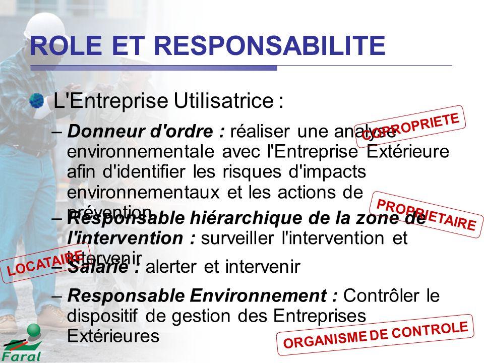 –Donneur d'ordre : réaliser une analyse environnementale avec l'Entreprise Extérieure afin d'identifier les risques d'impacts environnementaux et les