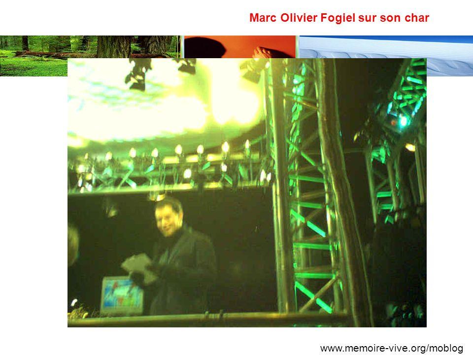 Marc Olivier Fogiel sur son char www.memoire-vive.org/moblog