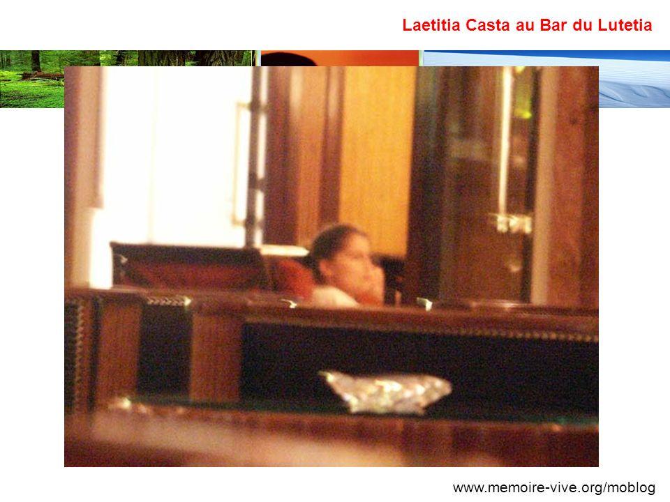 Laetitia Casta au Bar du Lutetia www.memoire-vive.org/moblog