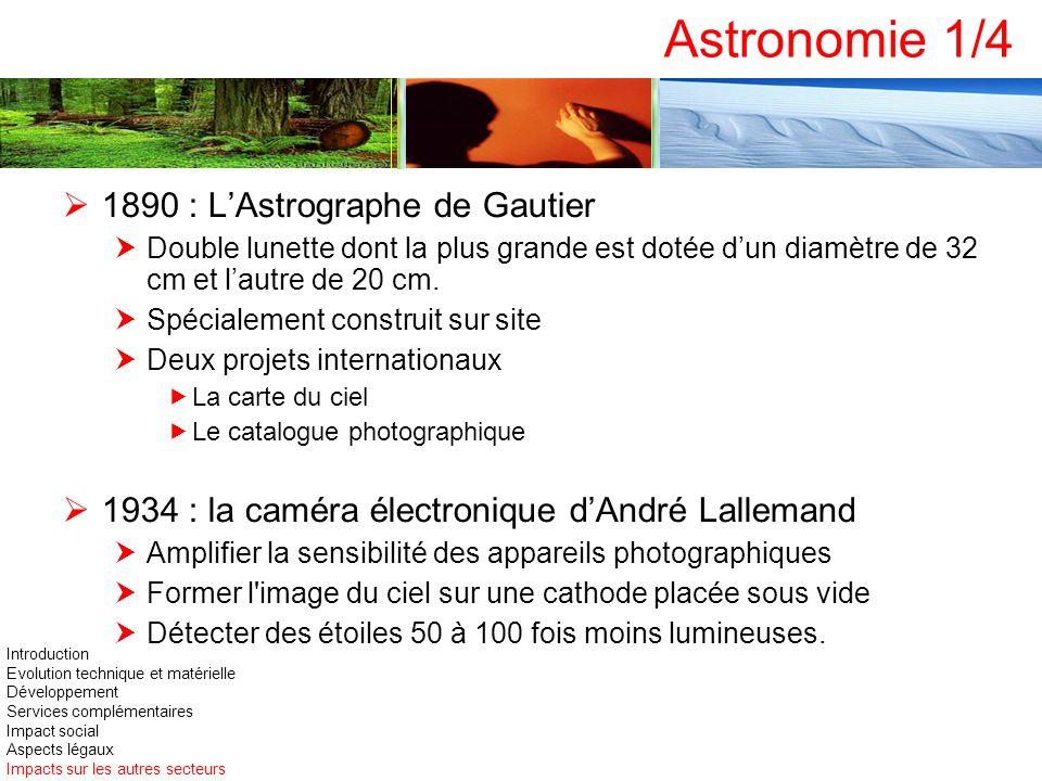 Astronomie 1/4 1890 : LAstrographe de Gautier Double lunette dont la plus grande est dotée dun diamètre de 32 cm et lautre de 20 cm. Spécialement cons